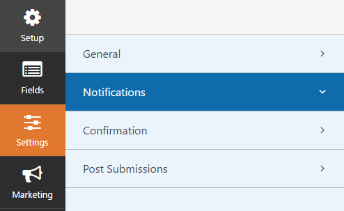 donation form notifications