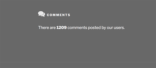 Preview of comment numbers
