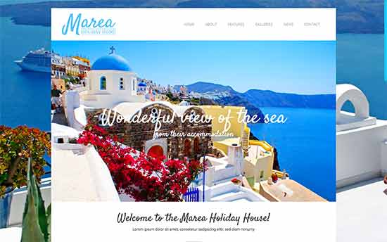 Marea Is A WordPress Theme Designed Specifically For Hotels Motels And Travel Websites It Features Large Homepage Slider With Call To Action Ons