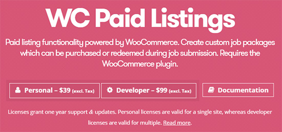 use WB Paid Listings to charge for submissions