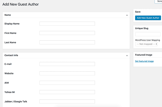 How to add multiple authors co authors for posts in wordpress guest author details ccuart Choice Image