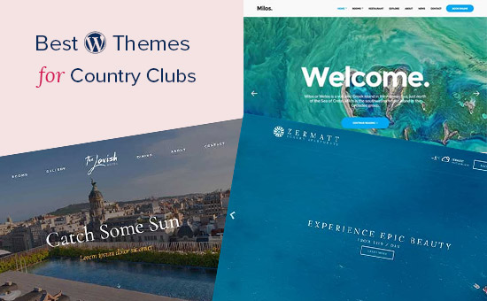 WordPress themes for country clubs