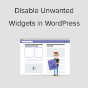 Cómo deshabilitar widgets no deseados en WordPress