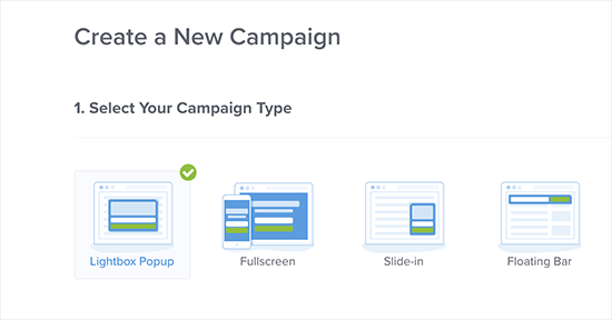 Choose campaign type