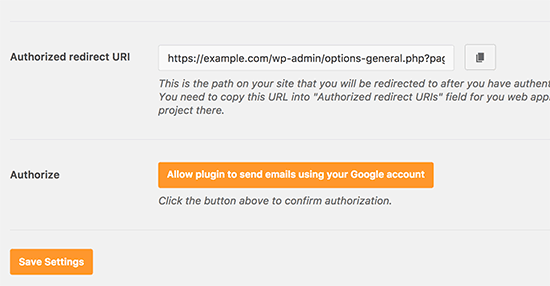 Allow plugin to send emails