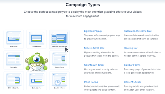 Campaign types