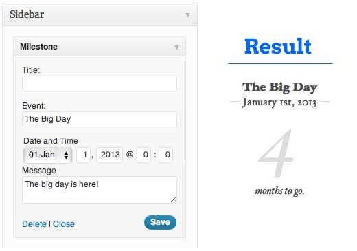 Milestone Plugin for WordPress