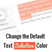 How to Change the Default Text Selection Color in WordPress