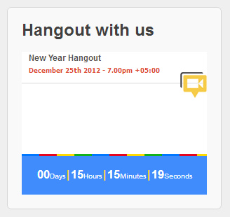 Google Plus Hangout Widget in a WordPress Blog