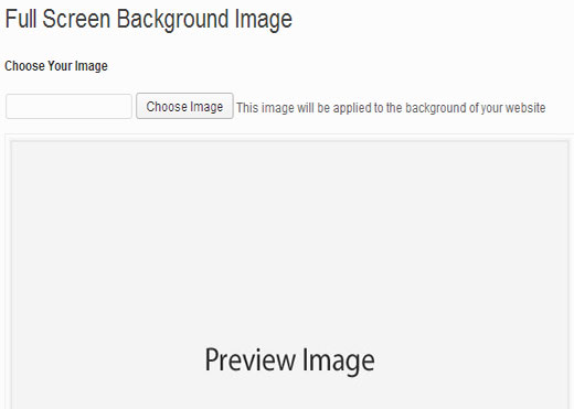 Upload a full screen background image
