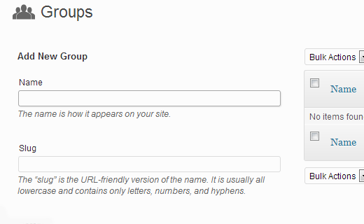 Add groups to staff lists