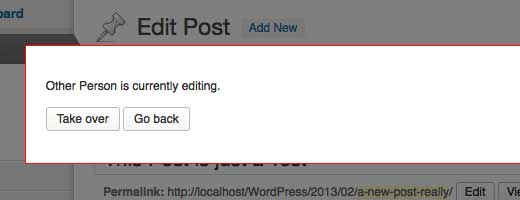 Post Lock in WordPress 3.6