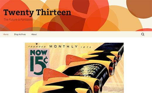 Twenty Thirteen - The New Default Theme in WordPress 3.6