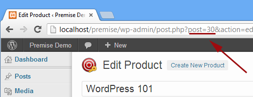 Finding a product id in Premise