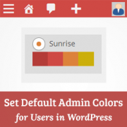 How to Set Default Admin Color Scheme for New Users in WordPress