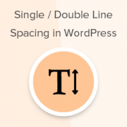 How to Add Single / Double Line Spacing in WordPress