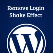 How to Remove the Login Shake Effect in WordPress