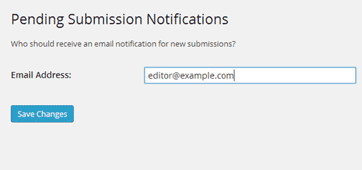 Add additional email addresses to receive pending review notifications