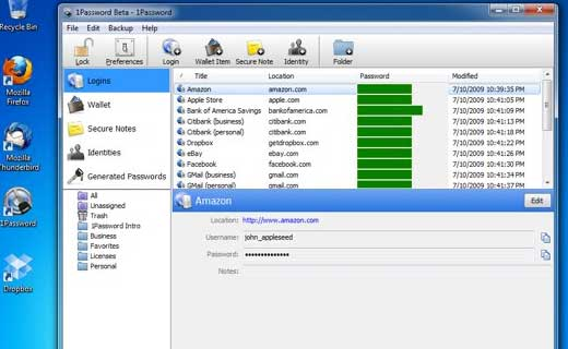 1Password on Windows PC