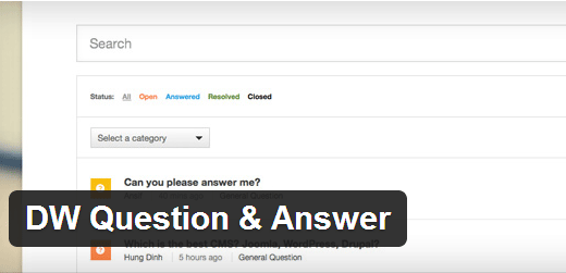 DW Question Answer Plugin for WordPress