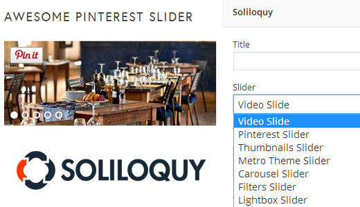 Soliloquy WordPress Slider Widget