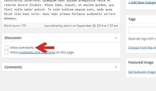 Opmerkingen in- / uitschakelen voor één bericht in WordPress
