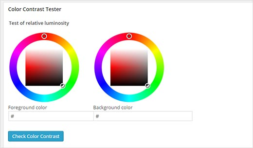 Color contrast testing tool