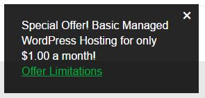 GoDaddy deal for managed WordPress hosting