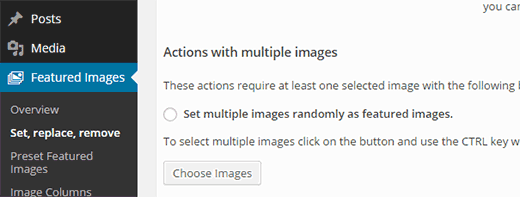 Use random images as featured image on your posts