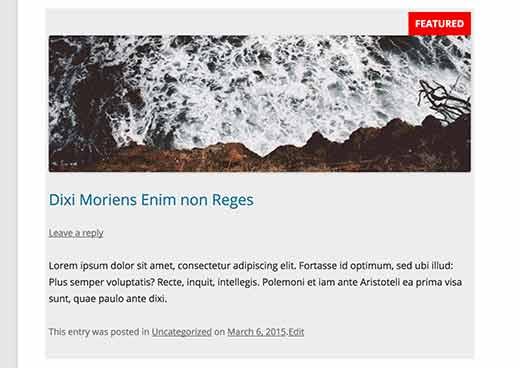 Een plakkerig bericht in WordPress stylen