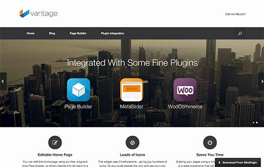 23 best free wordpress business themes vantage is a fully responsive free wordpress business theme that can be used for almost any kind of website it is highly customizable by using the page accmission Choice Image