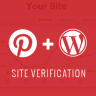 Pinterest Site Verification for WordPress