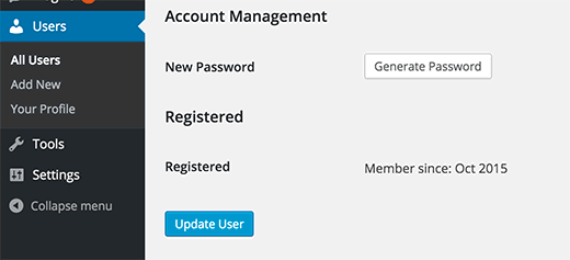 Showing member registration date in WordPress user profile