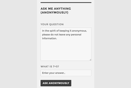 How to Add Ask Me Anything Anonymously in WordPress