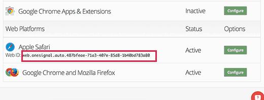 Safari web kimliği