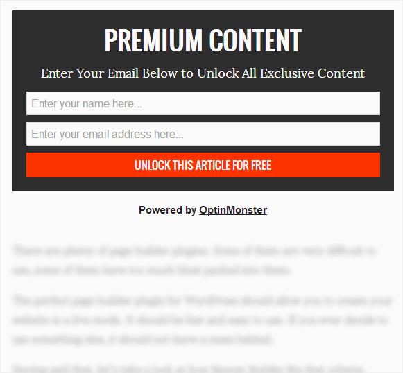Content lock example