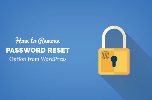 Removing password reset option from WordPress