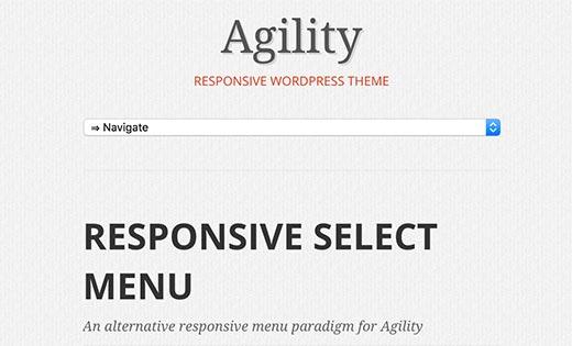 Responsive select menu
