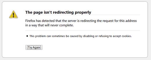 WordPress'te çok fazla yönlendirme hatası
