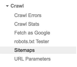 Google Search Console'da tarama bölümü