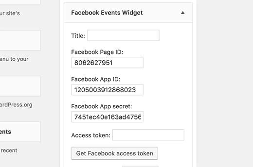 Facebook access token