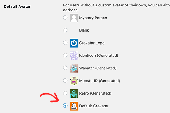 Custom default gravatar