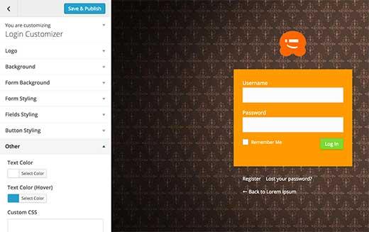 Personalizador de página de inicio de sesión personalizado