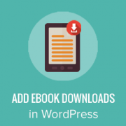 How to Add Ebook Downloads in WordPress