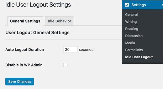 Inlog van de gebruiker inactief