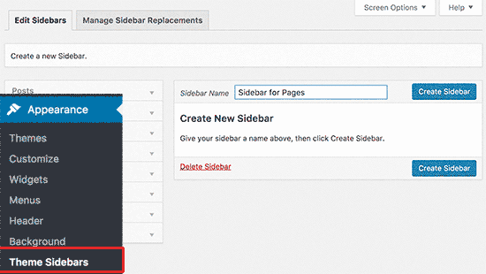 How to Display Different Sidebar for Each Post and Page in