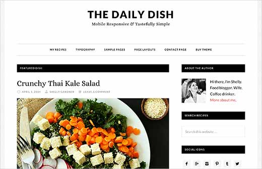 22 best wordpress themes for recipe and food blogs 2018 daily dish is a modern wordpress theme for food and recipe websites it is built on genesis and features a two column layout with a focus on beautiful forumfinder Gallery