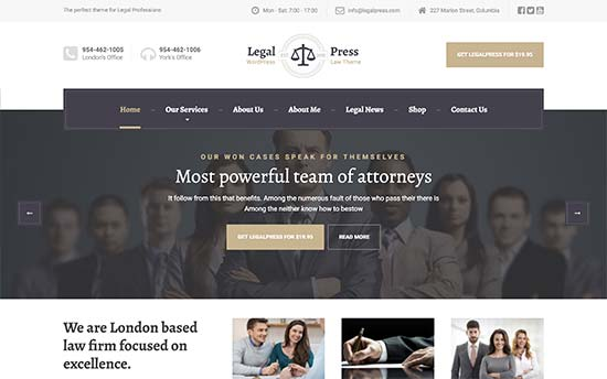 22 Best WordPress Themes for Lawyers (2019)