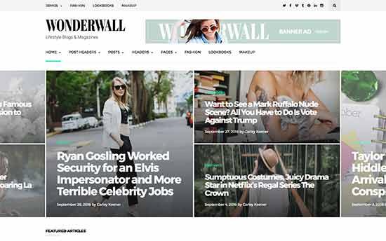 قالب Wonderwall