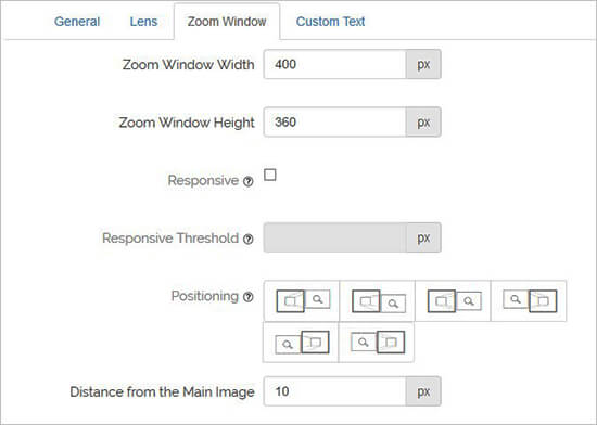 Zoom Window Configuration